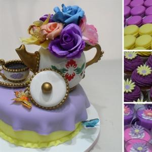 Resim söz & nışan düğün set pasta