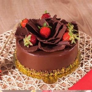 Resim Çilekli Çikolatalı Pasta