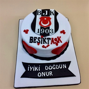 Resim Beşiktaş Taraftar Pastası