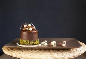 Resim Fıstık Çikolatalı tek pasta